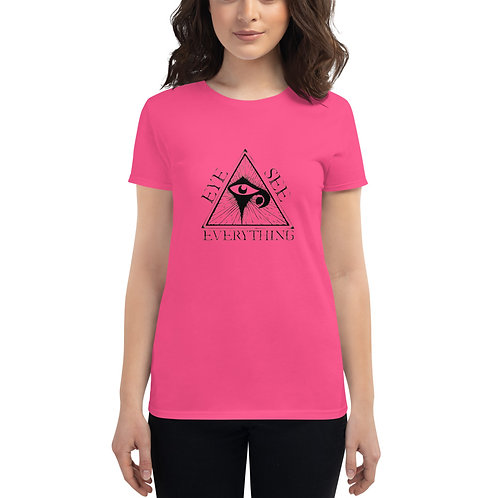 EYE SEE EVERYTHING Women's short sleeve t-shirt