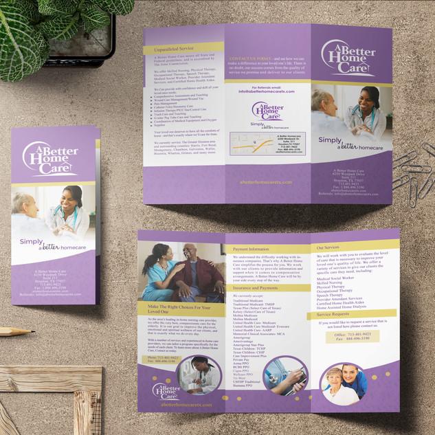 ABetter Homecare - Brochure Design