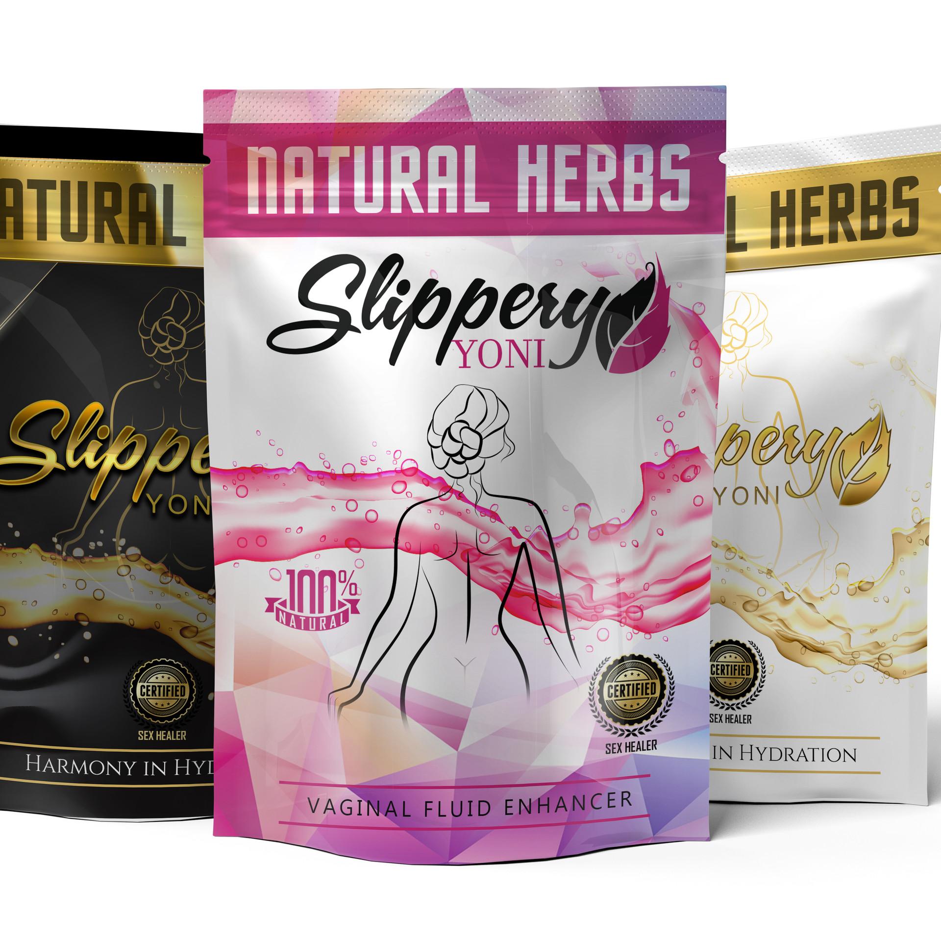 Slippery Yoni - Herbal Tea Package Design