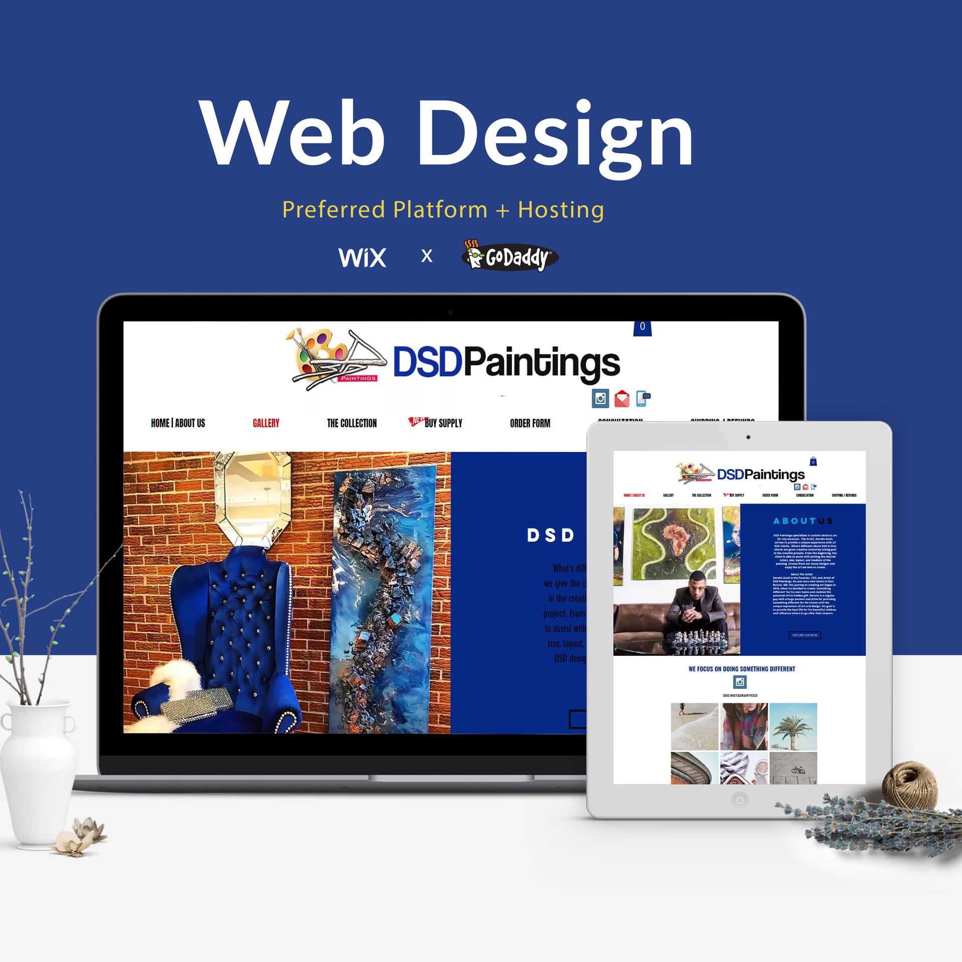 DSD Paintings Web Design