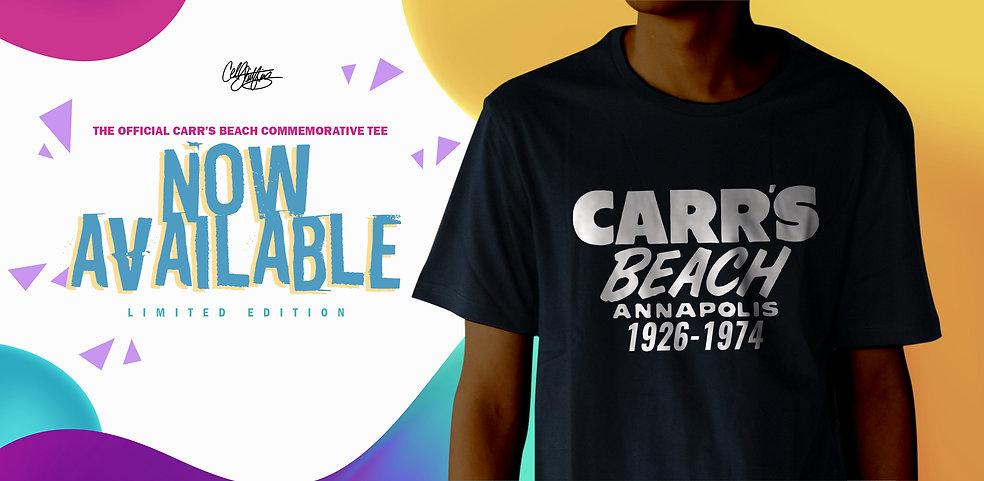 Carrs Beach Shirt NOW AVAILABLE banner.j