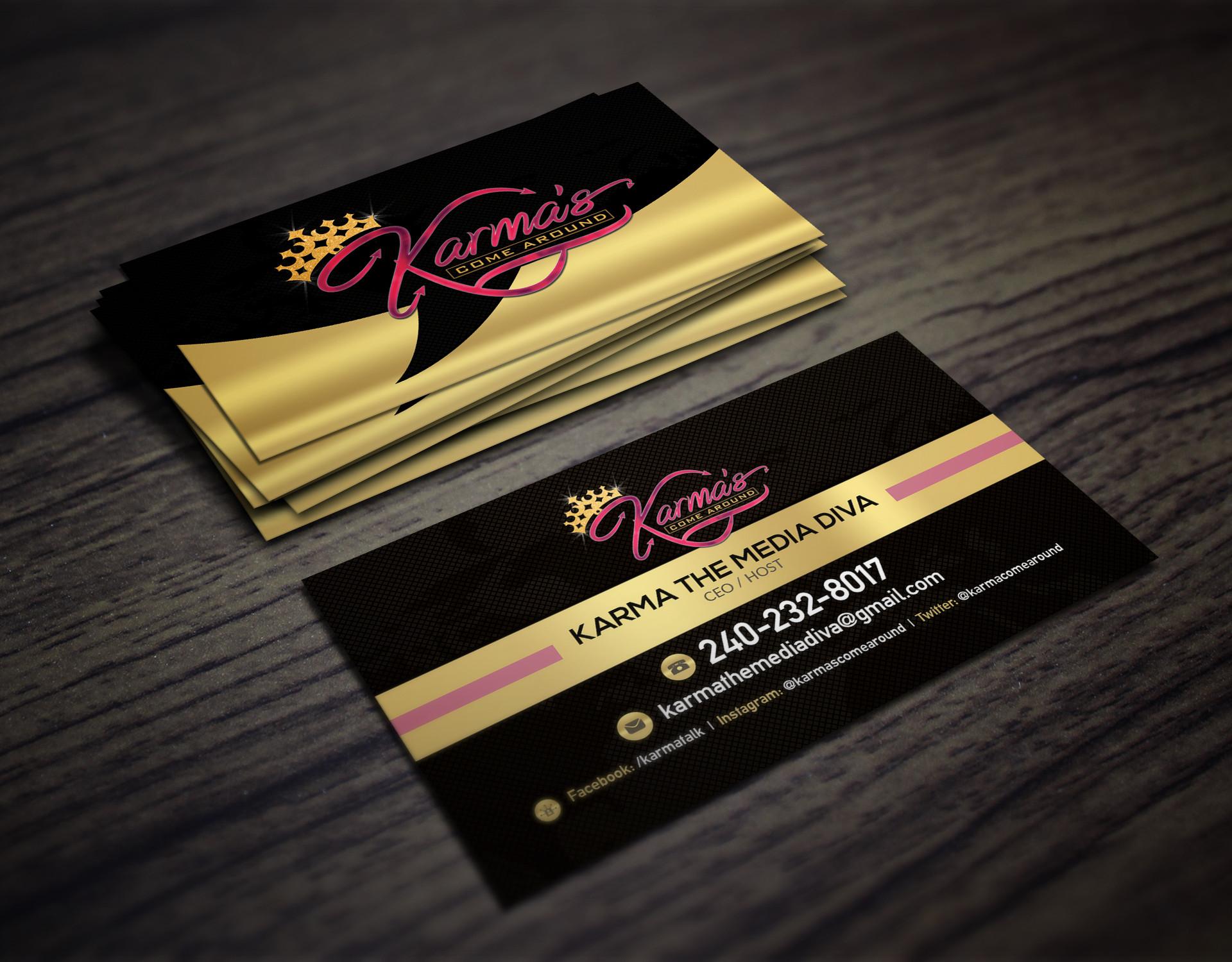 Karmas Come Around Business Card Mockup