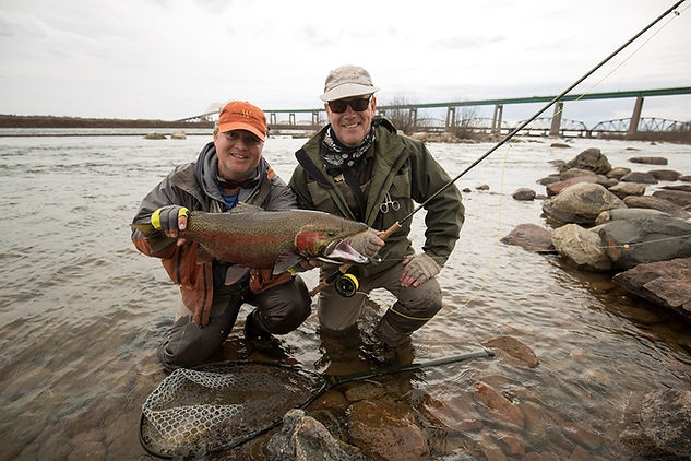 Fish caught with John Giuliani in the St Marys Rapids, in Sault Ste. Marie, Ontario.