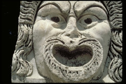 mask in stone