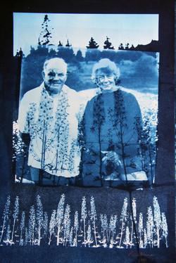 FarmersWithDelphiniums.cyanotype on water color paper.38.5x24.3cm