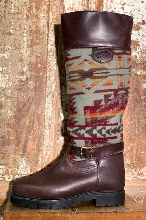 Tall Pull On w Buckle - Espresso with Shonto Wool
