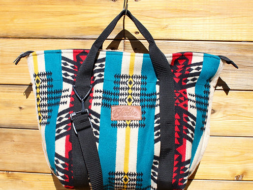 Pendleton Wool Mid Size Tote with Shearling Wool Back