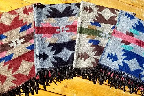 Native Inspired Designed Travel Scarves / Shawls - Arrows