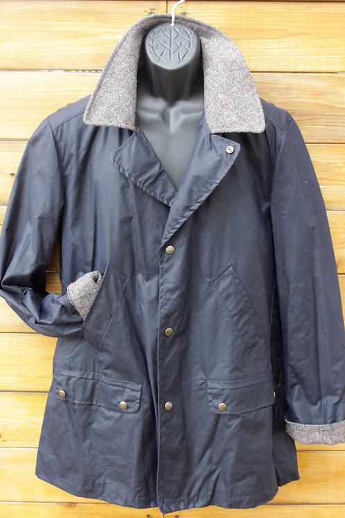 Brodie Jacket - Navy Wax with Tweed