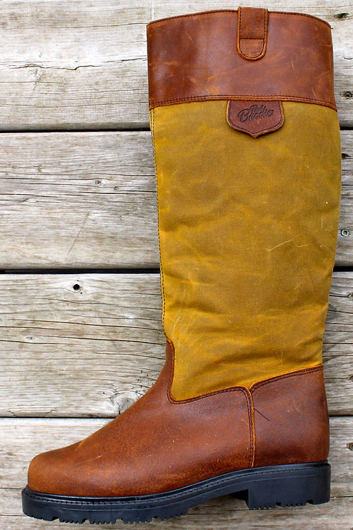 Tall Pull On - Whisky Wax Boot with Brown Cuff