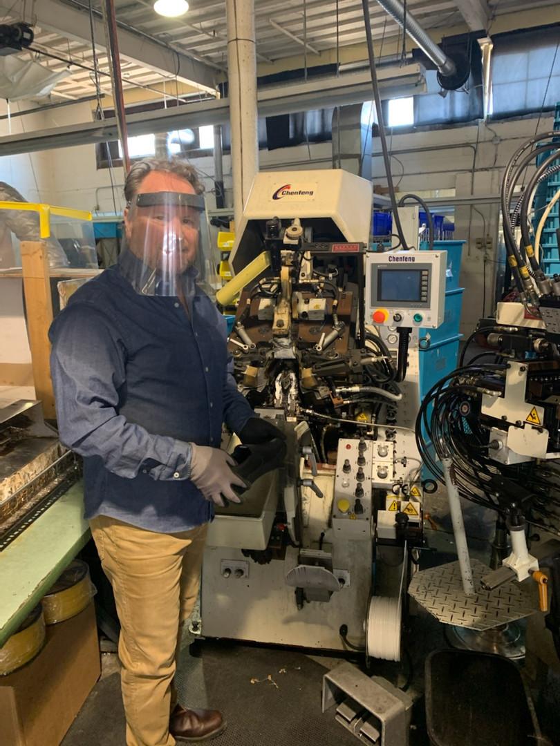Paul Brodie at Footwear Factory