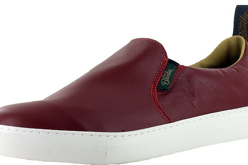 Red Leather Slip On Boat Shoes - 682070L