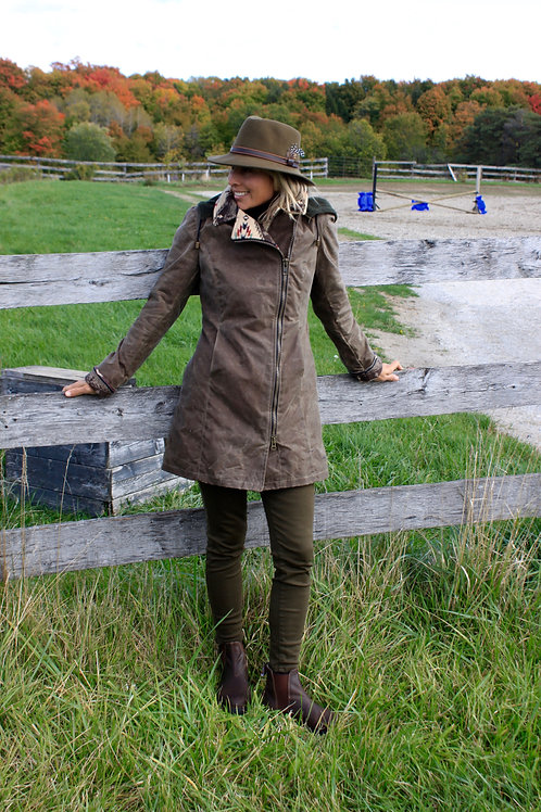 Montreal Jacket - Dark Tan Wax with Pendleton Spirit Wool