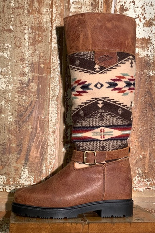 Tall Pull On w Buckle - Old West Brown with Spirit Wool