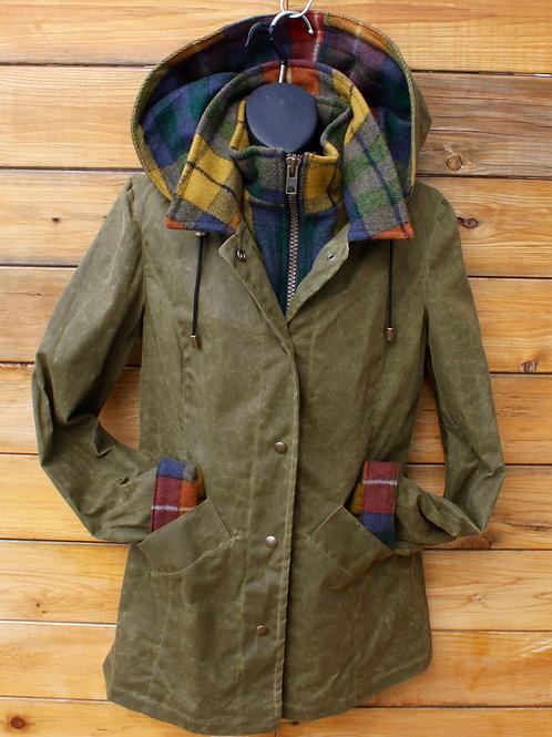 Journeywoman - Military Green Wax with Buchanan Tartan Wool