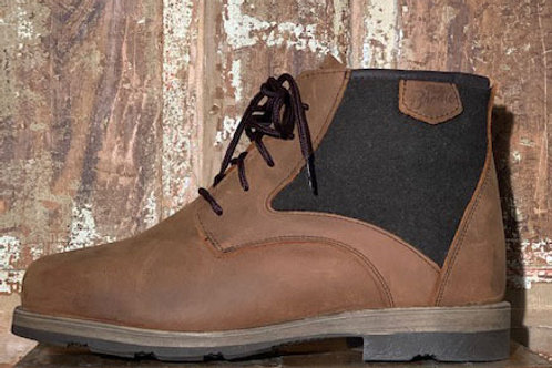 The Woodsman - Old West Brown Leather with Olive Wool Panel