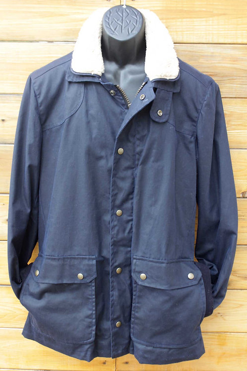 Tracker Jacket - Navy Wax with Shearling Collar