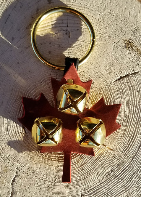 Maple Leaf Leather w Brass Jingles and Ring