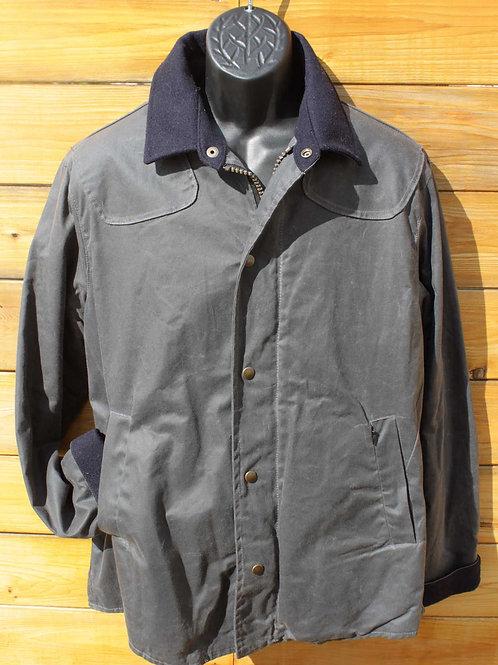 Scout Jacket Steel Grey w Navy Wool Collar & Cuffs