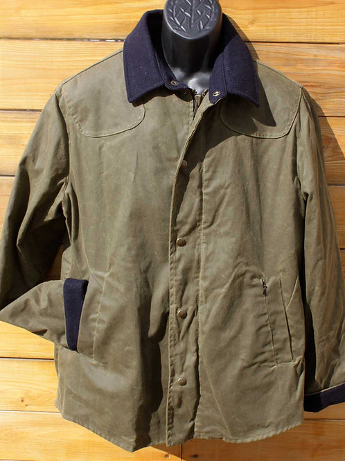 Scout Jacket - Military Green w Navy
