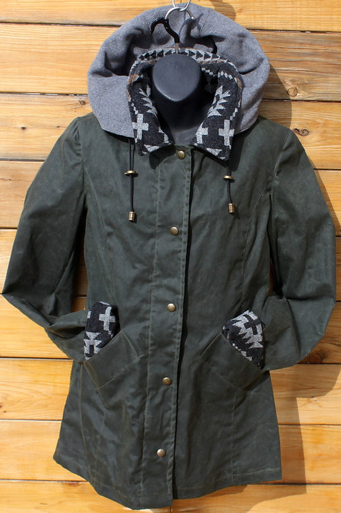 Paddock Jacket - Green Moss with Pendleton Wool