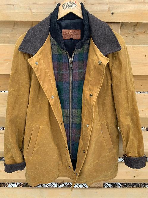Wax Journeyman - Whiskey with Buchanan Tartan Wool Storm Flap