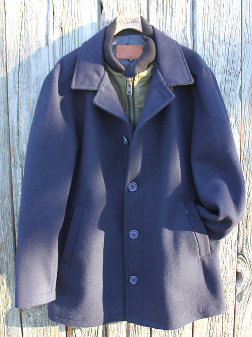 Wool Journeyman - Navy with Military Green Wax Storm Flap