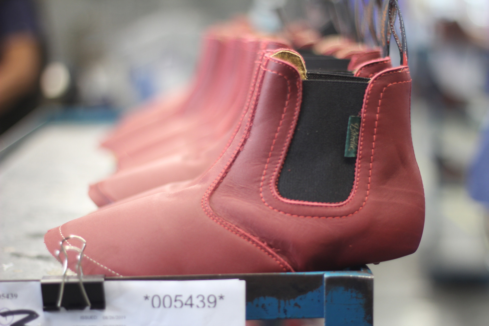 Red Leather Paul Brodie Boots