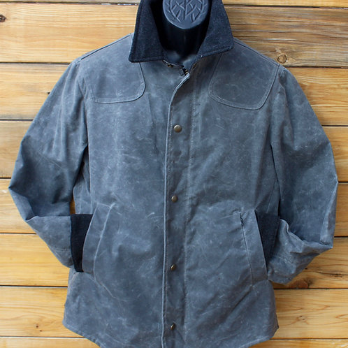 Scout Jacket - Grey Wax with Charcoal Wool Collar & Cuffs