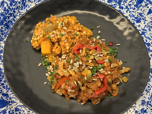 Moroccan Chicken Tagine & Pumpkin Pearl Cous Cous