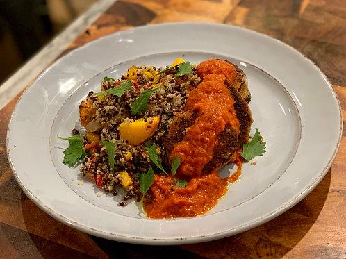 Homemade Falafels with Pumpkin Quinoa