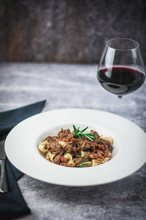 Braised Beef Cheek Ragout & Fettucine