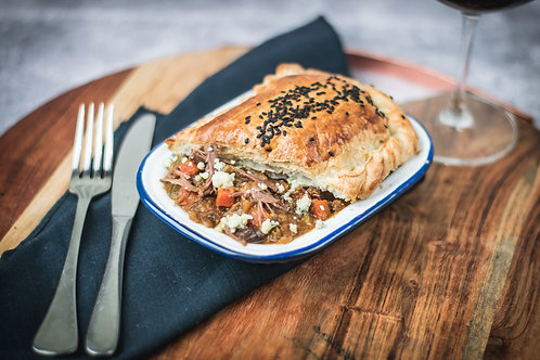 Beef, Blue Cheese & Caramelised Onion Pot Pie