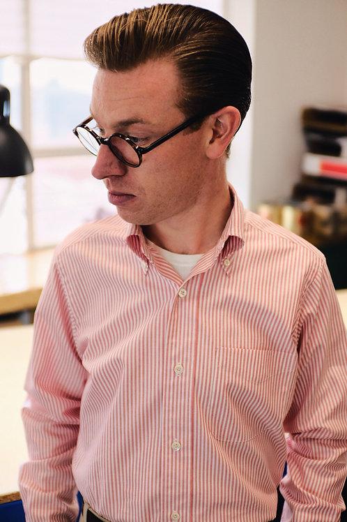 Red & White Stripe Oxford - Button Down Shirt