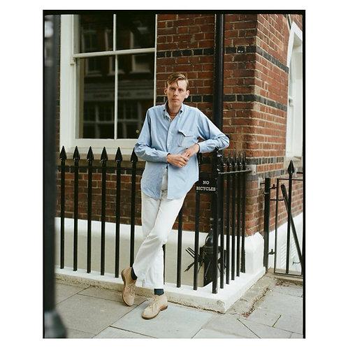Light Navy Oxford Flap Pocket- Button Down Shirt
