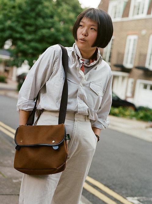 Tan & White Uni Stripe Flap Pocket - Button Down Shirt