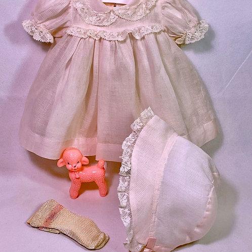 "1940s Original Effanbee 15"" Dy-Dee Molly'es Pink Dress Set"