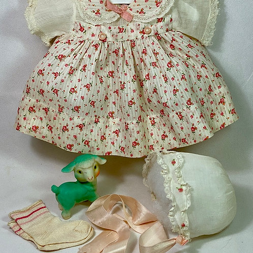 "Effanbee 15"" Dy-Dee Dress Set Red Floral"