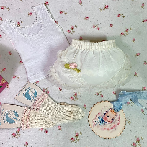 Vintage 1950's Party Underwear Set for Medium Dolls