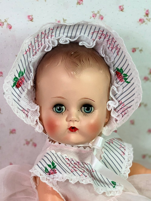 """EARLY 1950's Ideal Toy Co 14"""" BETSY WETSY Doll -- All Original"""