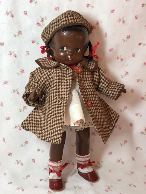 1930's Effanbee Houndstooth Wool Coat for Patsy Jr.