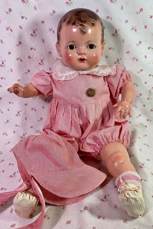 "RARE --1930s Effanbee EARLY SUGAR BABY 20"" Composition Doll -- A/O"
