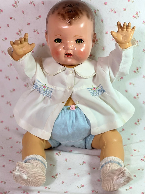 "Vintage Effanbee Dy-Dee Lou 20"" Baby Doll Diaper Shirt and Cover"