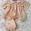 "Thumbnail: RARE Vintage 1930's Effanbee Dy-Dee Ette 11"" Pink Silk Baby Doll Coat Set"