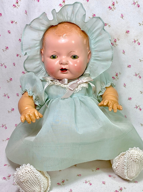 "Rare Vintage Early 1930s Effanbee 15"" Blond Dy-Dee Baby Doll"