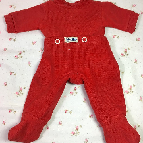 "Vintage MINT Red NITEY NITE Pajamas for 11"" to 13"" Tiny Tears and Friends"