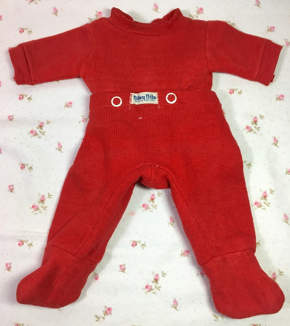 """Vintage MINT Red NITEY NITE Pajamas for 11"""" to 13"""" Tiny Tears and Friends"""