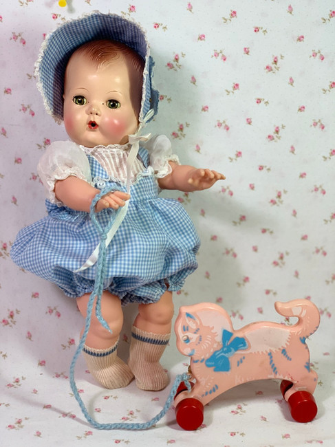 1950's Vintage KITTY Pull Toy for your Doll