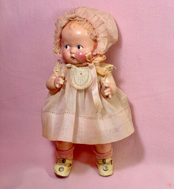 "Vintage 1930s Madame Alexander Compo 11"" Little Cherub Composition Doll"