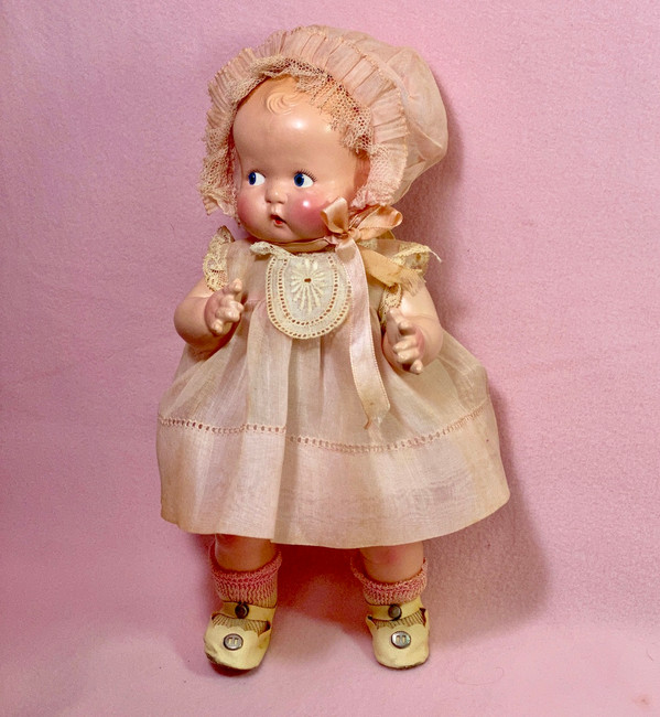 "Vintage 1930s Madame Alexander Compo 11"" Little Cherub Composition Doll"